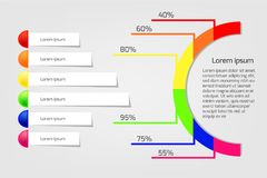 Business infographics circle and banners vector illustration. royalty free illustration