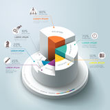 Business Infographics circle graph. Royalty Free Stock Photos