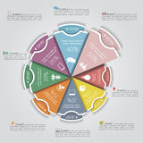 Business Infographics circle modern style. Vector Royalty Free Stock Images