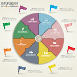 Business Infographics circle modern style. Vector Royalty Free Stock Photography