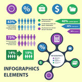Business Infographics circle origami style. can be used for workflow layout, banner, diagram, number options, step up options web Stock Images
