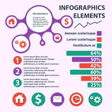 Business Infographics circle origami style. can be used for workflow layout, banner, diagram, number options, step up Stock Images