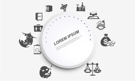 Business infographics circle origami style. This  file may be downloaded for all kinds of professional uses,such as comparison between several years' Royalty Free Stock Image
