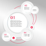 Business Infographics circle origami style Vector  Stock Photos