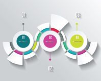 Business Infographics in circle segments origami style. Vector illustration. Can be used for workflow layout, banner, diagram, number options, step up options Stock Images