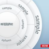 Business Infographics Circle Vector illustration Royalty Free Stock Photos