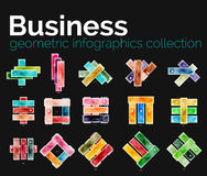 Business infographics collection - glossy stripes Stock Photo