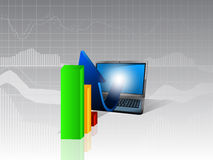 Business infographics. Infographics concept of business, statistics and graphics Royalty Free Stock Photography