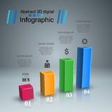 Business infographics. 3D charts and graphs. Business Infographics origami style Vector illustration. Diagram icon Stock Photos