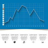 Business infographics. 3D charts and graphs. Business Infographics origami style Vector illustration. Diagram icon Royalty Free Stock Images