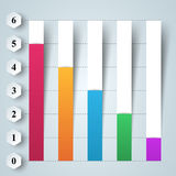 Business infographics. 3D charts and graphs. Business Infographics origami style Vector illustration. Diagram icon Stock Image