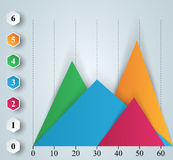 Business infographics. 3D charts and graphs. Business Infographics origami style Vector illustration. Diagram icon Royalty Free Stock Photo