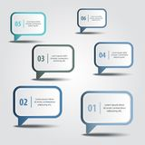 Business Infographics design elements message box strategy Stock Photos