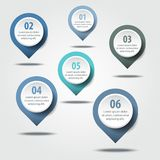 Business Infographics design elements message drop pin points. Strategy illustration blue grey color tone. Vector eps10 Royalty Free Stock Photo