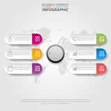 Business infographics design elements template graphic illustrat. Business Infographics, strategy, timeline, design elements template graphic illustration Royalty Free Stock Photography