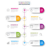 Business infographics design elements template graphic illustrat. Business Infographics, strategy, timeline, design elements template graphic illustration Stock Images