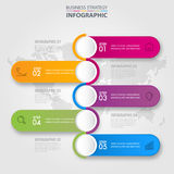 Business infographics design elements template graphic illustrat. Business Infographics, strategy, timeline, design elements template graphic illustration Royalty Free Stock Photos