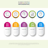 Business infographics design elements template graphic illustrat Stock Photography
