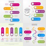 Business Infographics design elements template illustration. Business Infographics, strategy, timeline, design elements template illustration. Vector eps10 Stock Photos