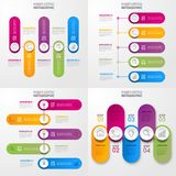 Business Infographics design elements template illustration. Business Infographics, strategy, timeline, design elements template illustration. Vector eps10 Royalty Free Stock Images