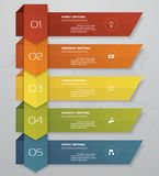 Business infographics design with 5 steps arrow graph for your presentation. EPS 10 royalty free illustration