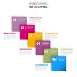 Business Infographics design template illustration. Business Infographics strategy design template illustration with colorful square tag. Vector eps10 stock illustration