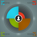 Business Infographics Design Template. Vector Elements. Color Source Pie Chart Diagram Illustration. EPS10 Royalty Free Stock Images