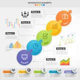 Business Infographics design template. Vector illustration.   Royalty Free Stock Photo