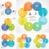 Business Infographics design template. Vector illustrations. Royalty Free Stock Photos