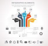 Business infographics element. Infographic design template and business icons set. Template for diagram, graph, chart, flyer, presentation, print and website Royalty Free Stock Photography