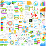 Business infographics element for presentationjumbo collection Stock Images