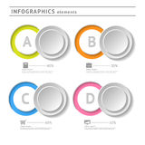 Business infographics elements. Circle design temp. Late. Abstract web or graphic layout with space for text royalty free illustration