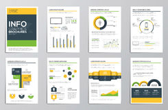 Business infographics elements for corporate brochures Stock Photo