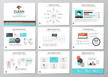 Business infographics elements for corporate brochures Royalty Free Stock Image
