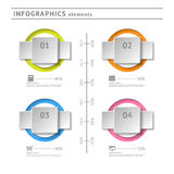 Business infographics elements. Modern design temp Stock Images