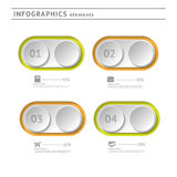 Business infographics elements. Modern design temp Stock Photo