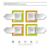 Business infographics elements. Modern design temp Royalty Free Stock Image