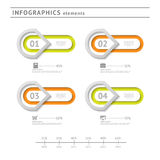 Business infographics elements. Modern design temp Royalty Free Stock Photo