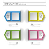 Business infographics elements. Modern design temp. Late. Abstract web or graphic layout with space for text royalty free illustration