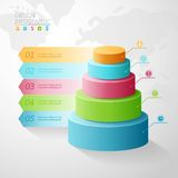 Business Infographics five stages in the form of Royalty Free Stock Photo