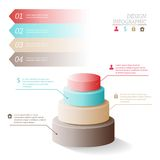 Business Infographics five stages in the form of Royalty Free Stock Photos