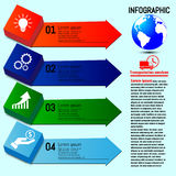 Business infographics. Four Options steps. Vector infographic element.  Royalty Free Stock Photography