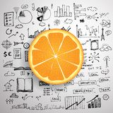 Business infographics - fresh orange idea Royalty Free Stock Image