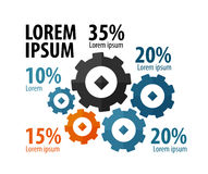 Business infographics. gears. vector illustration Royalty Free Stock Image
