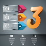 Abstract 3D digital illustration Infographic. Business Infographics glass style Vector illustration. Vector eps 10 vector illustration