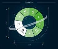 Business Infographics green circle evolution Stock Image