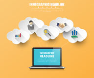 Business infographics with icons set. vector. illustration. Stock Image