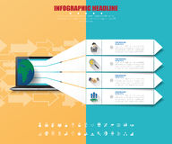 Business infographics with icons set. vector. illustration. Stock Photos