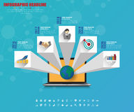 Business infographics with icons set. vector. illustration. Royalty Free Stock Photography