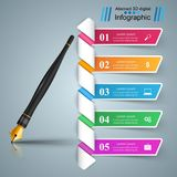 Business Infographics. Ink pen icon. 3D infographic design template and marketing icons. Ink pen icon Stock Photo